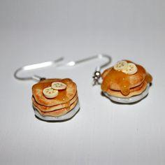 pancake earrings food earrings kawaii earrings by Dleesnow on Etsy, $11.00