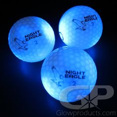 Bright Blue Glowing LED Golf Balls! Keep cool with blue! - https://glowproducts.com/us/light-up-led-golf-balls