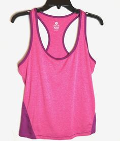 b5bb1772ad729 Old Navy Active Semi-Fitted Tank Top Racerback Medium Womens Pink  OldNavy   AthleticTops