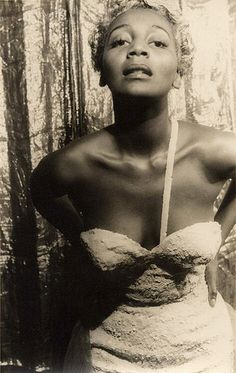 "Joyce Bryant aka""The Black Marilyn Monroe"" aka ""The Bronze Blonde Bombshell""  Photo by Carl van Vechten, 1953."