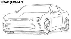 how to draw a race car | How to Draw a Camaro, Step by ...