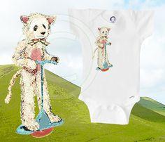Organic onesie panda in cat costume on pogo by BoogalooBubbywear, $18.00