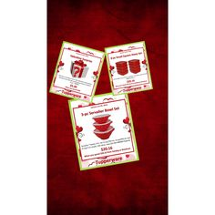 """Friday, January 29, 2016 is the last day to get these awesome red bowls!!! Message me here Call me 209•988•0409 Visit my website @ Amygreen.my.tupperware.com Shop from my """"shop button"""" on my Facebook page @  https://m.facebook.com/Home-of-SassytwLadyamy-611960572278363"""
