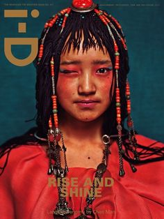 Chinese photographer Chen Man for the 2012 Chinese New Year / spring  i-D Magazine. With MAC's UK director of make-up, Terry Barber. These portraits celebrate the diversity of Chinese beauty in a very avant-garde fashion. Model: see bottom of image.