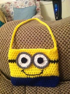 Crochet Despicable Me Minion Handbag Purse by SoftSweetStitches, $9.99