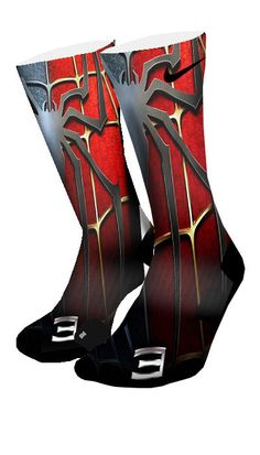 Spiderman Custom Elite Socks