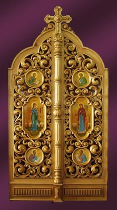 """Царские врата  """"Покровский"""" храм г.Павлово image 1"""