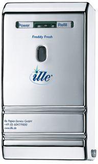 Dispenser odorizant de toaleta, Premium Freddy Fresh, dimensiuni: x x cm, rezistent la socuri, culoare alba. Plastic, Fresh