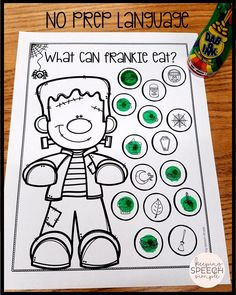 These fun, No Prep worksheets are a great way to teach vocabulary. These language activities are all picture supported making them ideal for your kindergarten and early elementary students. These worksheets can be used during speech therapy sessions as part of a thematic language unit. They can also be sent home with parents for reinforcement or homework.  Click here to see more!