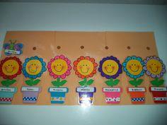 Ο κήπος με τα χρώματα!: Ιδέα για πίνακα - ημερολόγιο Preschool Classroom Decor, Preschool Crafts, Crafts For Kids, Colegio Ideas, Mary Christmas, Classroom Organisation, School Decorations, Handmade Crafts, Kindergarten