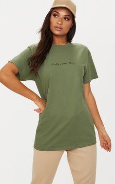 PrettyLittleThing Mustard Slogan Stripe Tshirt Pretty Little Thing Cheap Price High Quality Cheap Online Buy Cheap Shop For j61Pr