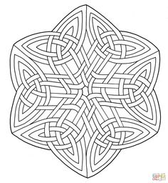 Mandala with Knotwork coloring page from Celtic mandalas category. Select from 31983 printable crafts of cartoons, nature, animals, Bible and many more. Adult Coloring Pages, Mandala Coloring Pages, Free Printable Coloring Pages, Colouring Pages, Coloring Books, Celtic Quilt, Celtic Mandala, Celtic Art, Celtic Knot Designs