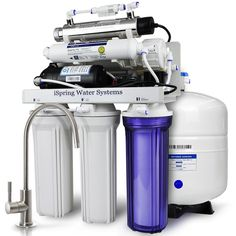2b0c5fb417c8 ISPRING 7-Stage 100 GPD Under-Sink Reverse Osmosis Drinking Water  Filtration System with Booster Pump