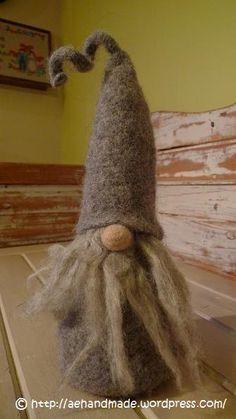 Got one of these from a local artist this year Scandinavian Gnomes, Scandinavian Christmas, Felt Christmas, Christmas Crafts, Wool Needle Felting, Felted Wool, Felt Ornaments, Felt Crafts, Sheep Crafts