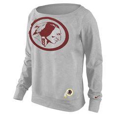 Washington Redskins Nike Women's Dri-FIT Epic Wildcard Long Sleeve T-Shirt Redskins Gear, Burgundy And Gold, Washington Redskins, Graphic Sweatshirt, T Shirt, Nike Women, Football, My Style, Sweatshirts
