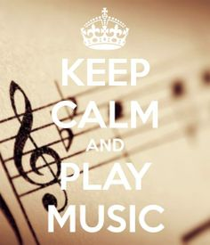 I'll play and it will calm you.