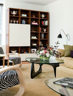 A mix of old and new to create a comfortable living area - modern - living room - new york - Kristen Rivoli Interior Design