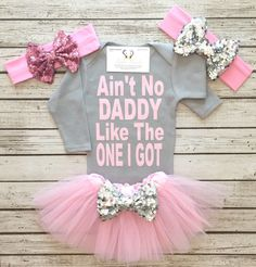 A personal favorite from my #Etsy shop https://www.etsy.com/listing/474896016/aint-no-daddy-like-the-one-i-got. #Adorbs #TooCute #IWant #LoveIt #ForPenélope