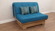 Devonshire small sofa bed.  Available in a wide range of fabrics and wood satins.