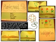 Plants Need flipbook  from dragonfliesinfirst.........did this with my 3 year old 4/412, she really enjoyed making it and wants to read her book every day!