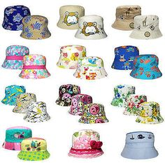 #Childrens bush hat boys #girls various designs #cotton summer sun bucket cap new,  View more on the LINK: http://www.zeppy.io/product/gb/2/122020469019/