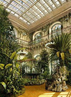 Adoro jardins de inverno!    rooms in the Winter Palace. Winter Garden., Hermitage