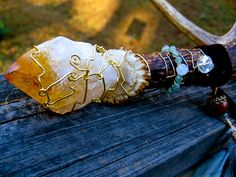 Brigid Antler Wand Powerful Citrine Aventurine by EireCrescent, $55.99