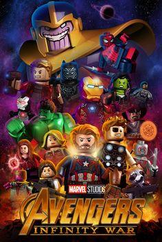 Lego Avengers Infinity War Lego Avengers Infinity War – – Check more at lego. Lego Marvel's Avengers, Lego Marvel Superheroes 2, Lego Dc Comics, Batman Lego, Avengers Poster, Marvel Kids, Lego Wallpaper, Avengers Wallpaper, Marvel Legends