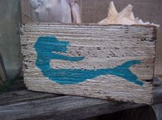Mermaid Swimming Beach House Salvaged Wood by ELouiseBoutique, $10.00