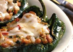 Best Poblano Peppers Or Small Green Bell Peppers Recipe on Pinterest