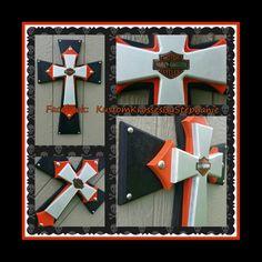 "24"" Harley Davidson Wall Cross"