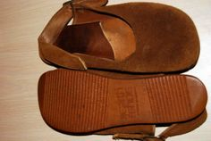 8cd3e80c1ae2 Vintage used Ann Kalso Earth Shoes from 1978 with negative heel Tan Suede  Sling Back -