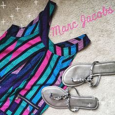 Marc Jacobs Colorful Zipper Pocket Top  Excellent used condition Marc Jacobs colorful, zipper-pocket top!  Would pair great with black leggings and cute shoes  No visible wear whatsoever! ✨ 54% Cotton // 46% Viscose ✨ No Trades!  ❗️ But feel free to make an offer!!  ❗️ Marc by Marc Jacobs Tops Blouses