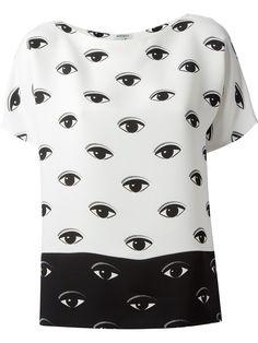 143190a1cf44a7 KENZO  Eye  monochrome t-shirt Pop Art Mode