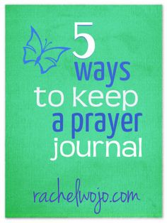 5 ways to keep a prayer journal
