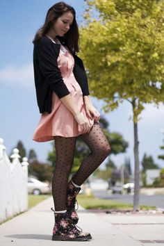 I don't think i would wear this but it looks very cute & put together   Dr. Marten