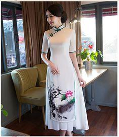 #cheongsam #moderncheongsam #qipao #旗袍 #VietnamOdessaskirt #VietnamOdessa #vietnamstyle #longcheongsam #longdress #whitecheongsam #whitedress #chinesestyle #vintagestyle #vintagefashion