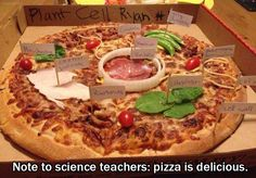 "asapscience: ""We're super into using pizza as a way to teach cell biology. In fact, we're into using pizza for, well, anything (as long as we get to eat it after)."""