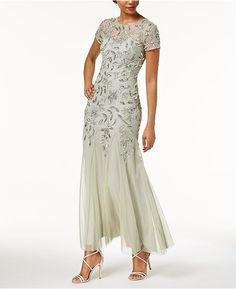 Image 1 of Adrianna Papell Floral-Beaded Gown Mother Of Bride Outfits, Mother Of Groom Dresses, Bride Groom Dress, Mothers Dresses, Mother Of The Bride, Grooms Mom Dress, Long Mothers Dress, Gala Dresses, Mob Dresses