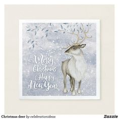 #Christmas #deer #xmas #papernapkins Available in different #giftideas products. Check more at www.zazzle.com/celebrationideas