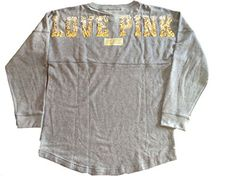 Victorias Secret LOVE PINK Sequin Pullover Crew Sweatshirt Small Multicolor * Find out more about the great product at the image link.