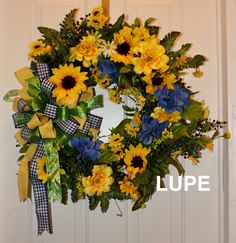 SUNFLOWER /GRAPEVINE WREATH MADE BY LW