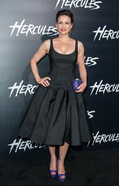"""Carla Gugino arrives at the Premiere Of Paramount Pictures' """"Hercules"""" at TCL Chinese Theatre on July 23, 2014 in Hollywood, California."""