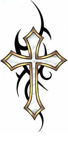 Tattoo - Cross Design - Upper Left Chest