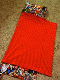 Super Hero Nap Mat Cover with PillowBlanket by DottieMDesigns