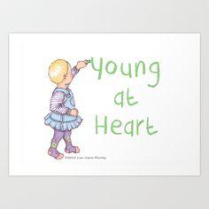 Young at heart Art Print by Lisa Jayne Murray - $18.00