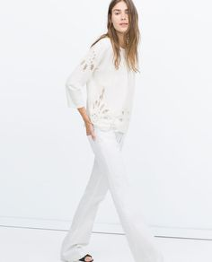 EMBROIDERED TOP-View all-Tops-WOMAN-SALE | ZARA United States