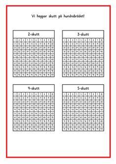Skutt på brädet Numbers 1 100, Math Numbers, Teacher Education, School Teacher, 120 Chart, Math Patterns, 2nd Grade Math, Math Lessons, Teaching Math