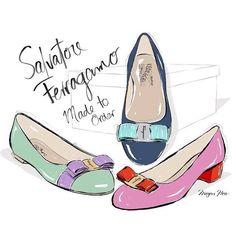 Salvatore Ferragamo by Megan Hess Illustration