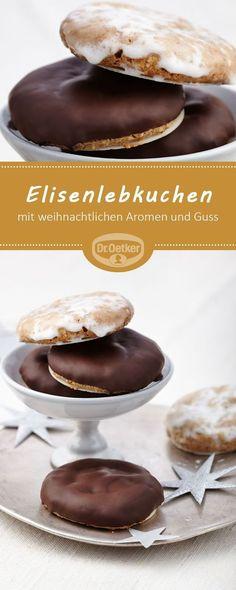 Elisenlebkuchen: Kleine Lebkuchen mit weihnachtlichen Aromen und Guss